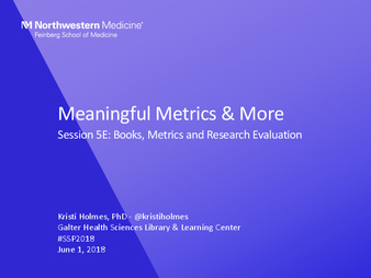 Download the full-sized PDF of Meaningful Metrics & More