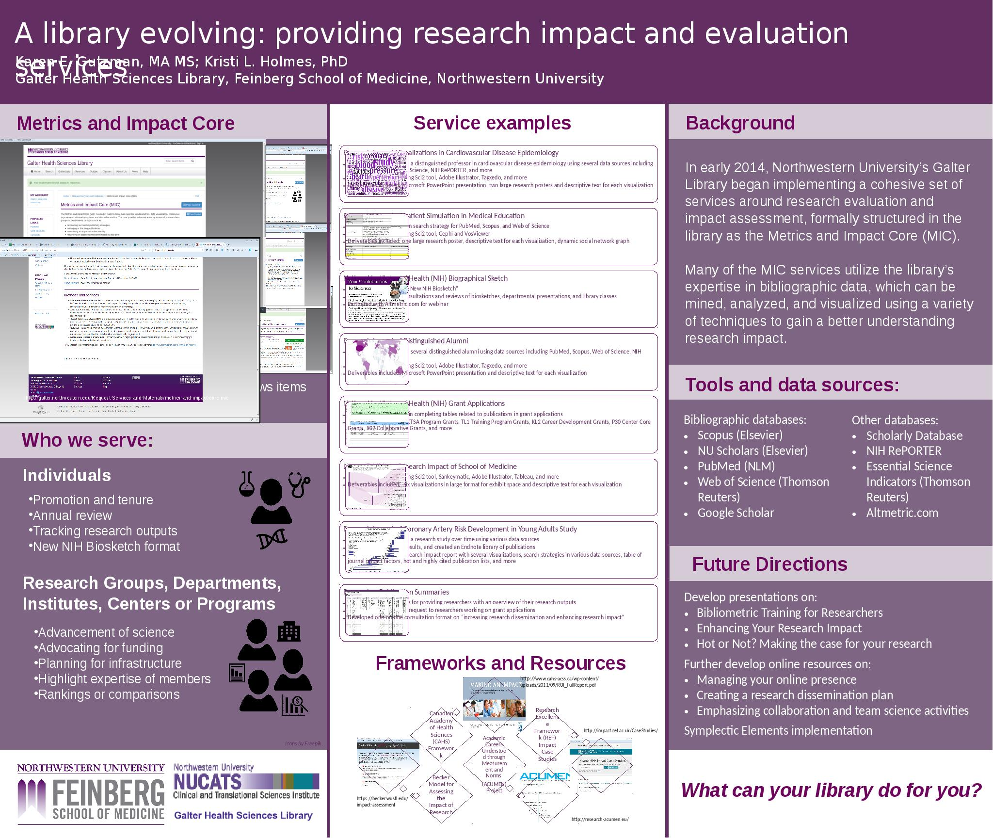 Download the full-sized Document of A Library Evolving: providing research impact and evaluation services