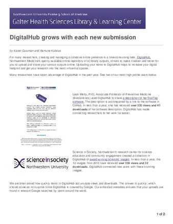 Download the full-sized PDF of DigitalHub Grows with Each New Submission