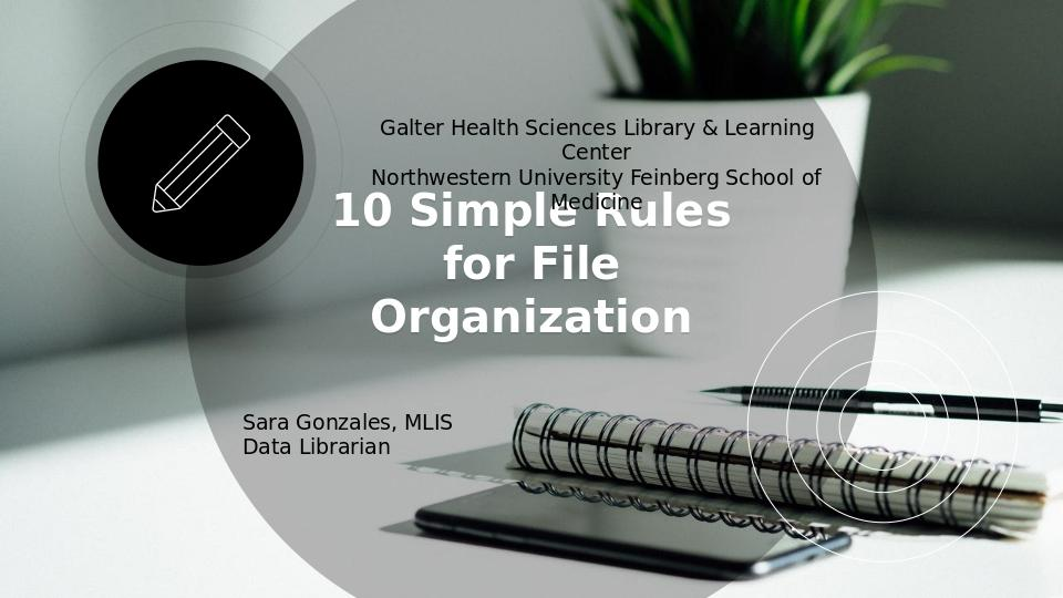 Download the full-sized Document of 10 Simple Rules for File Organization