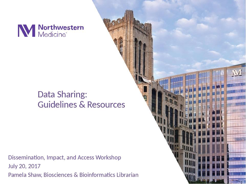 Download the full-sized Document of Data Sharing: Guidelines and Resources