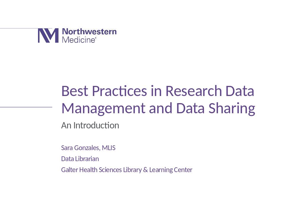 Download the full-sized Document of Best Practices in Research Data Management and Data Sharing (slideshow)