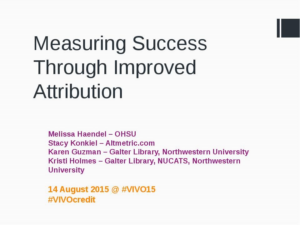 Download the full-sized Document of Measuring Success Through Improved Attribution